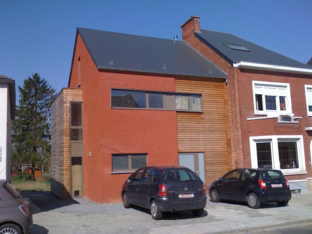 Maison enduit rouge et bardage bois greenwich photo n 23 - Enduit sur brique rouge ...