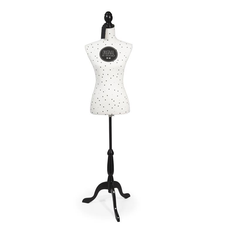 Mannequin couture en fibre de verre H 160 cm BLACKSTAGE