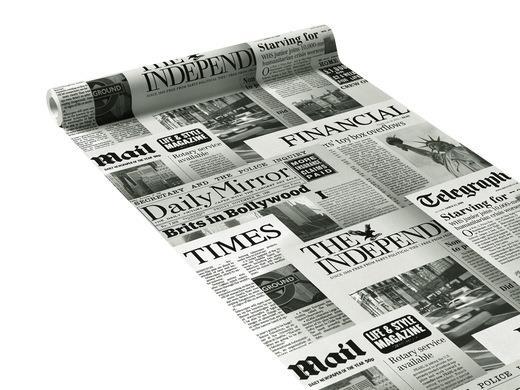 papier peint journal coloris gris journal 4murs ref 20600. Black Bedroom Furniture Sets. Home Design Ideas