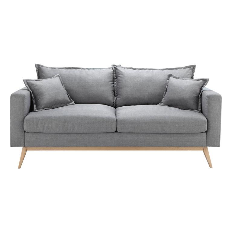 Canapé style scandinave 3 places gris clair Duke
