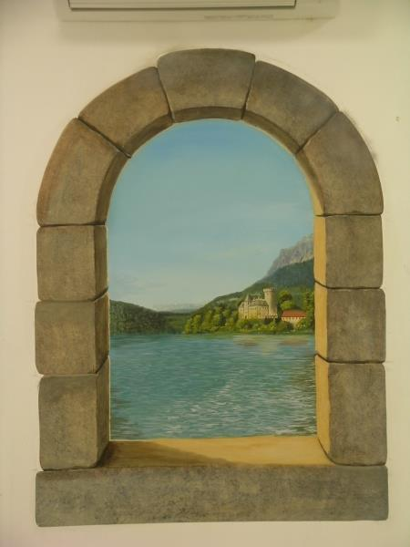 Peinture en trompe l 39 oeil france art d cor photo n 10 for Style de peinture murale