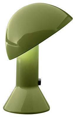 Lampe de table Elmetto / 1976 - Martinelli Luce vert en matière plastique