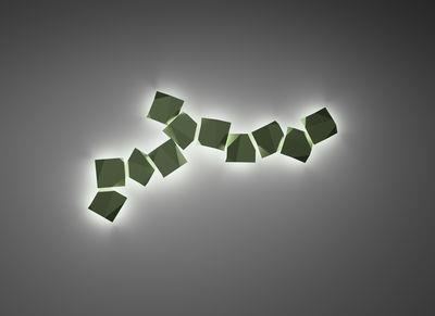 Applique Origami LED / Motifs n°2 - Vibia marron en matière plastique
