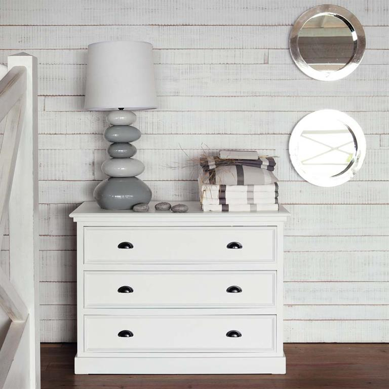 Commode en pin blanc L 115 cm Newport