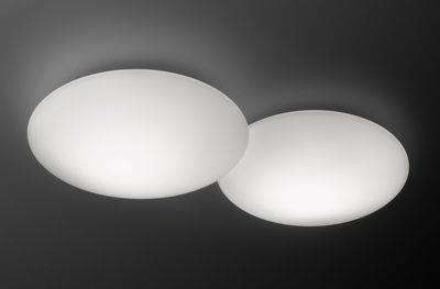 Applique Puck Double LED / Plafonnier - Vibia blanc en verre