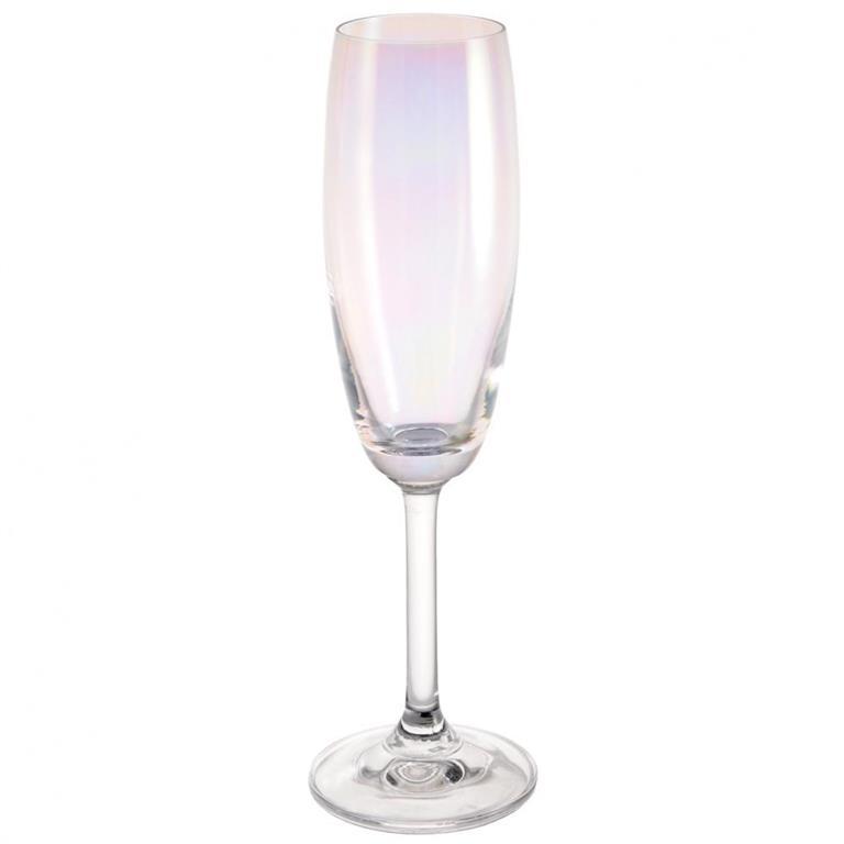 Flûte à champagne en verre ARC EN CIEL Maisons du monde