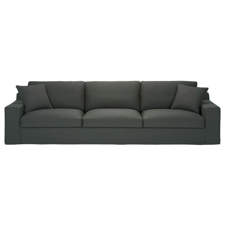 Canapé 5 places en coton gris ardoise Stuart