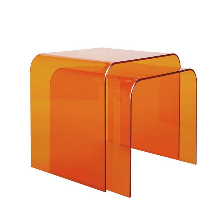 2 bouts de canapé orange Columbia