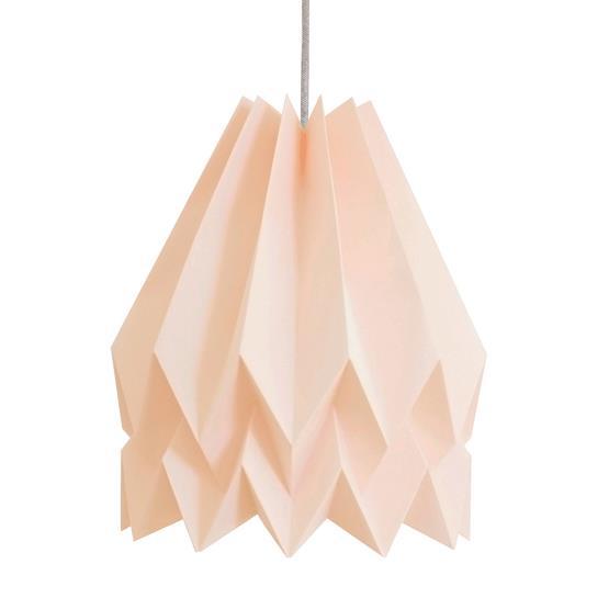 Abat-jour rose pastel en papier - Orikomi