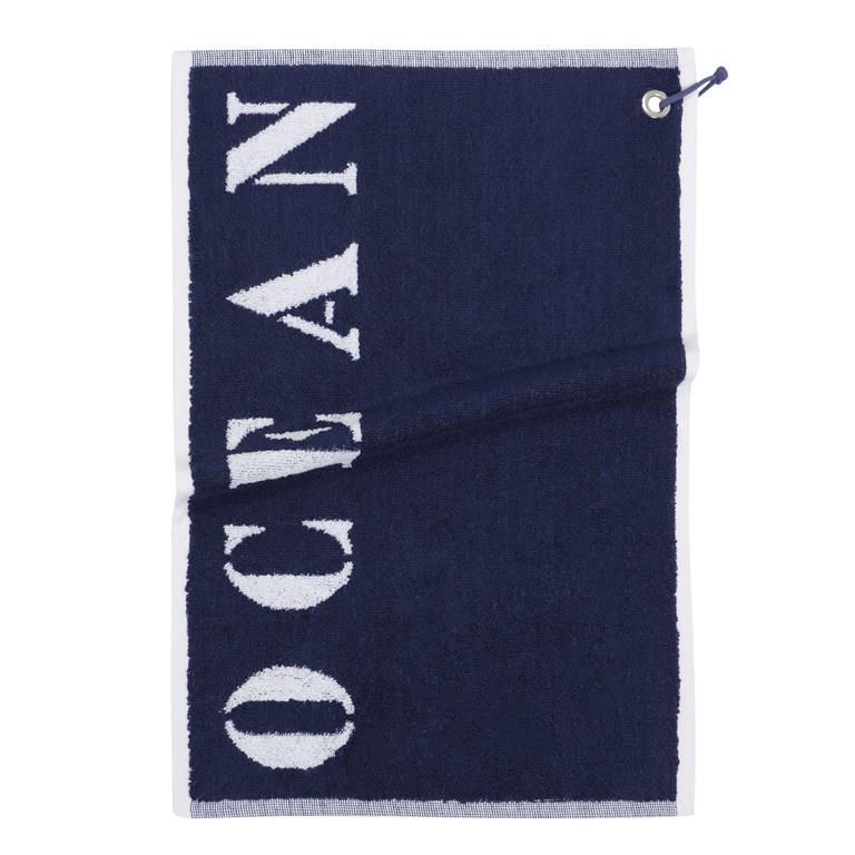 Serviette de toilette en coton bleue 30x50 OCÉAN