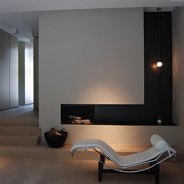 Coin Chemin E Zen Dans Un Salon Contemporain Avec Chemin E Design Blanche