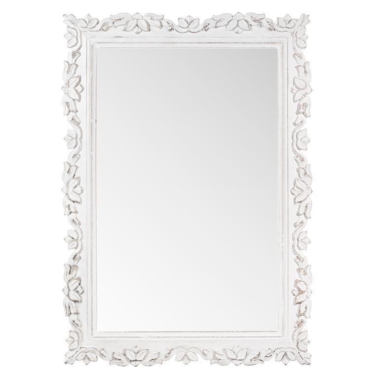 Miroir blanc Faustine