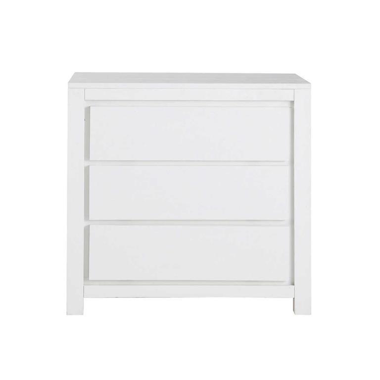 commode en bois massif blanche l 85 cm white maisons du monde. Black Bedroom Furniture Sets. Home Design Ideas