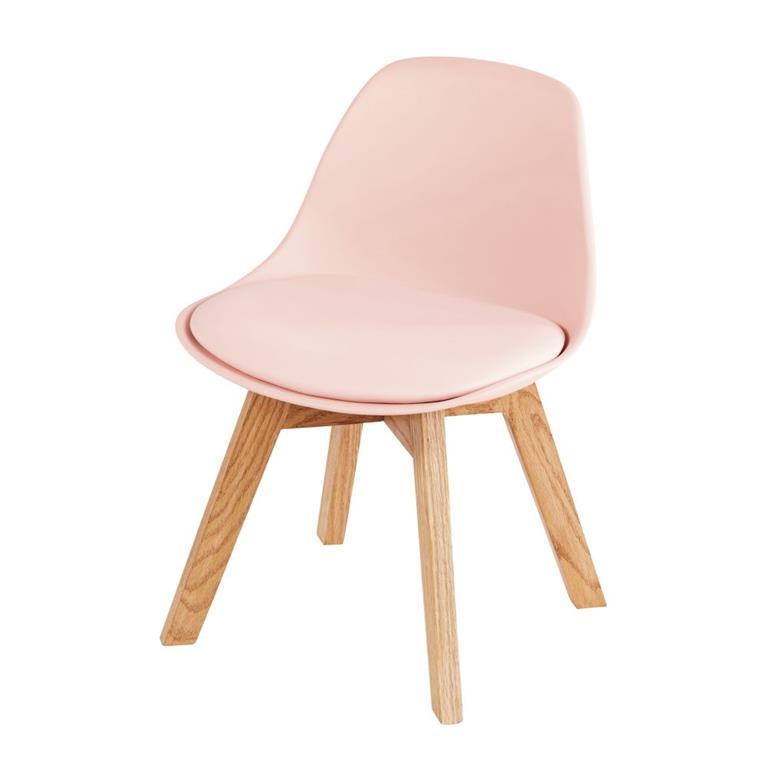 Avec la chaise style scandinave enfant rose et chêne ICE , transformez le cocon de votre fille en un lieu tendance et girly ! Son assise rose clair, confortable et ...