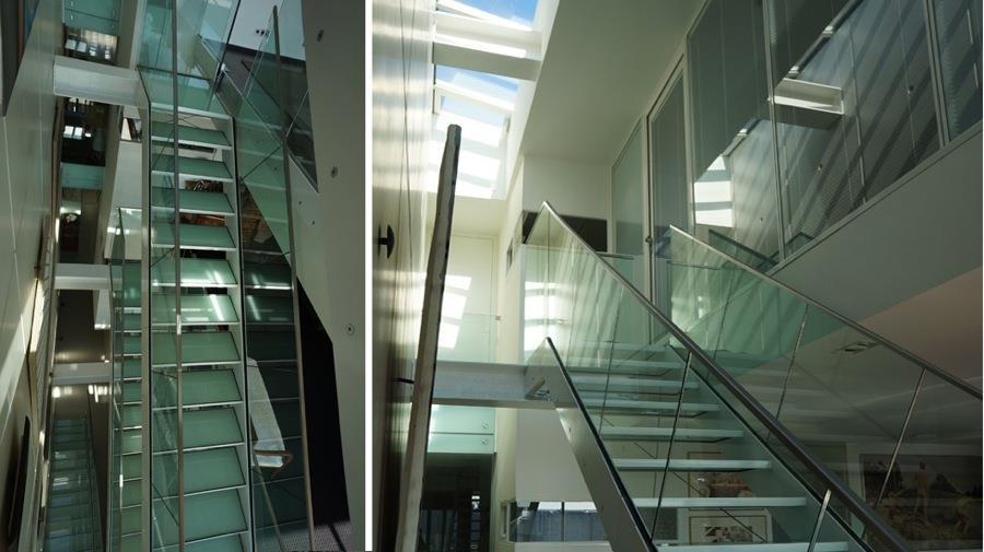 Escalier en verre et métal Jean-Yves Arrivetz photo n°95