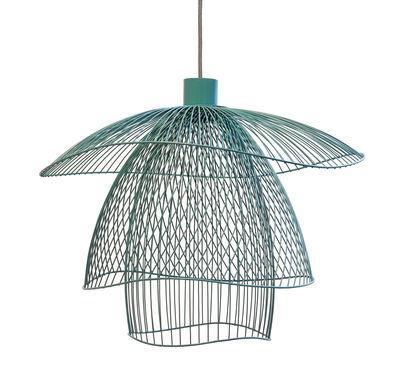 Suspension Papillon Small / Ø 56 cm - Forestier bleu gris en métal