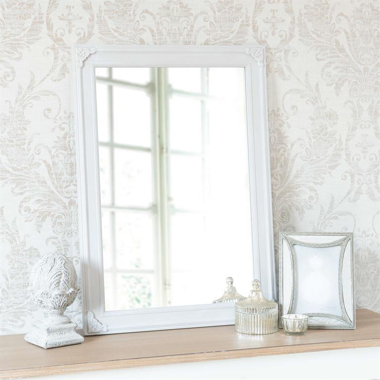 Miroir en bois gris H 70 cm NOBILIS