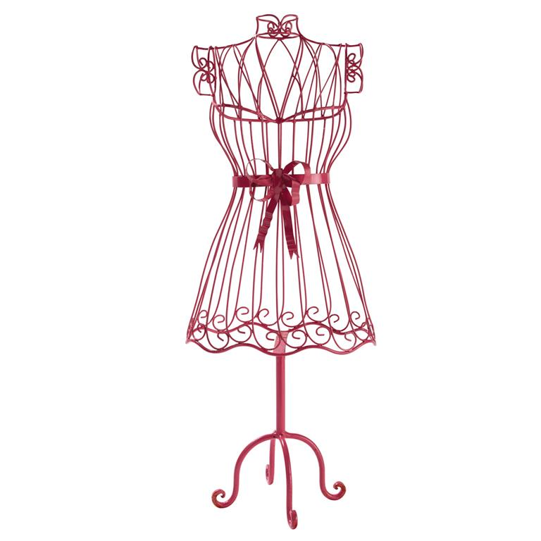 Mannequin couture en métal rose H 85 cm STELLA