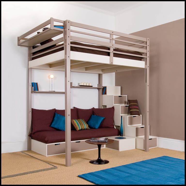 Chambre d'adulte et Salon avec rangements intégrés complètement personnalisable et modulable