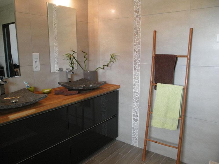 Salle de bain meuble vasques