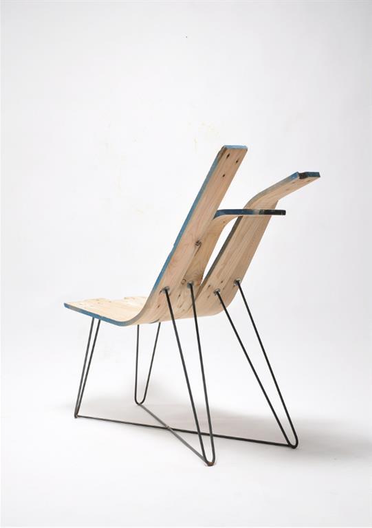 Chaise en bois cintré