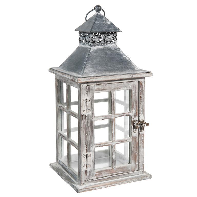 Maison Du Monde Lanterne.Lanterne En Sapin A L Effet Blanchi Maisons Du Monde