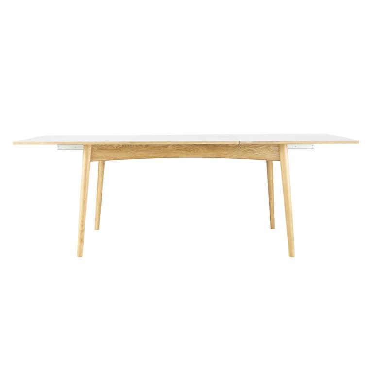 Table à manger extensible blanche 6 à 10 personnes L150/220 Boop