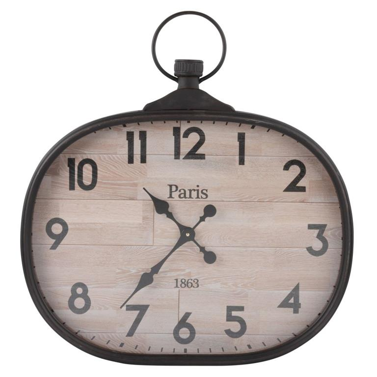 Horloge gousset en métal 60x64