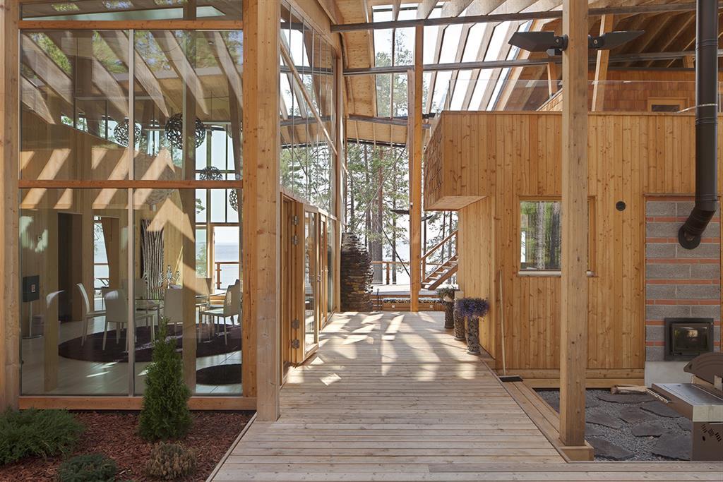maison de r ve au bord d 39 un lac en finlande par agn s. Black Bedroom Furniture Sets. Home Design Ideas