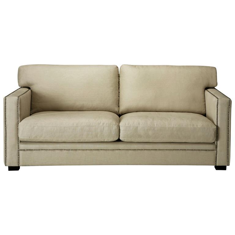 Canapé 3/4 places en lin mastic Dandy