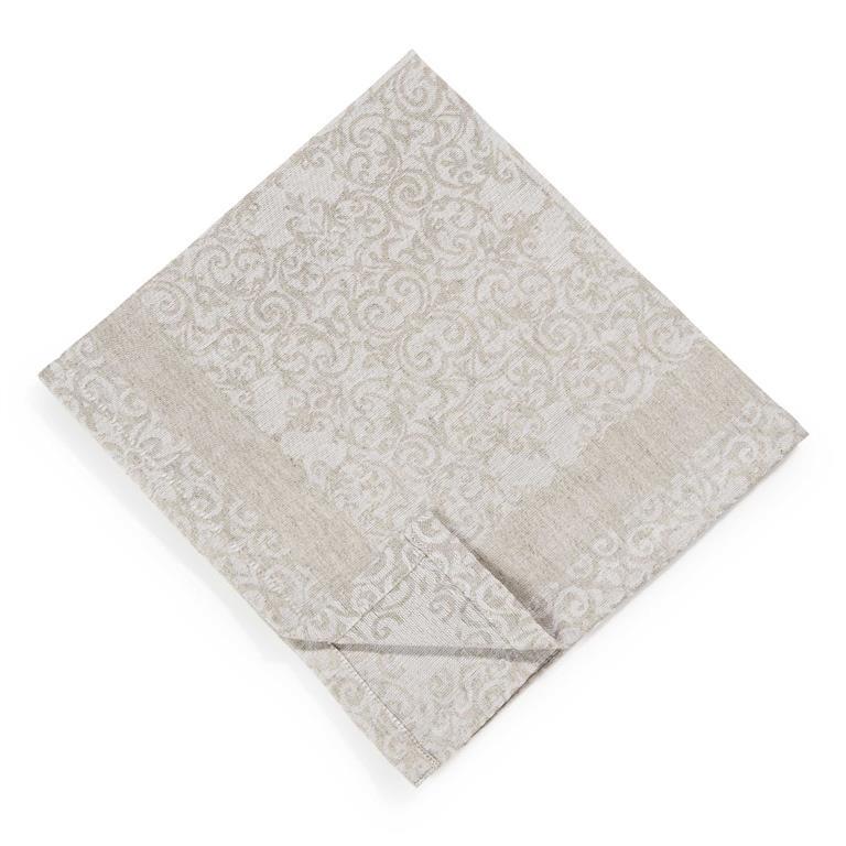 Serviette en coton et lin écru 45 x 45 cm LISBONNE