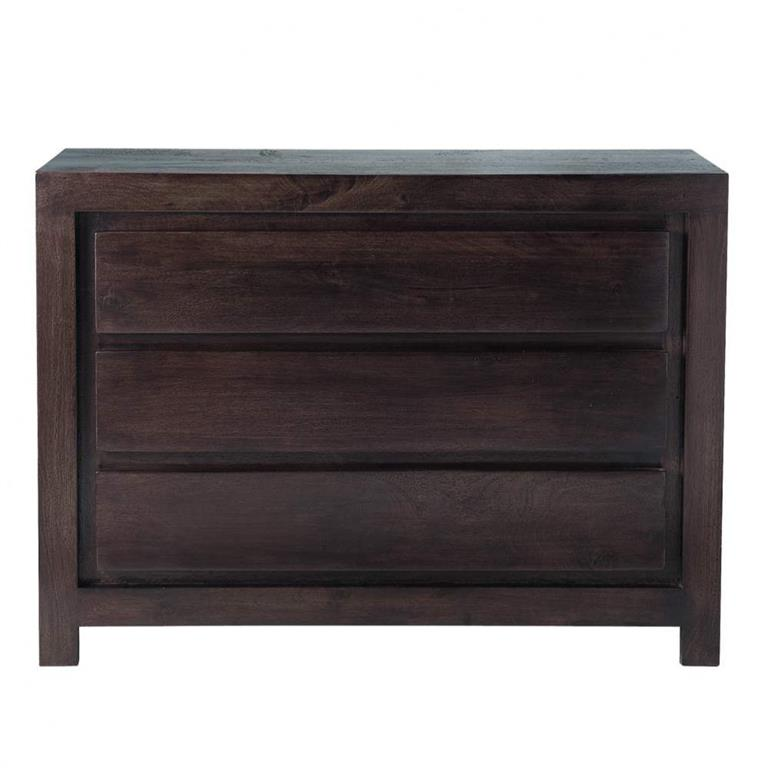 Commode en manguier massif wengé L 110 cm Goa