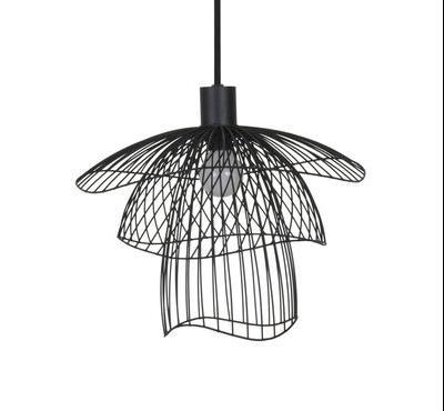 Suspension Papillon XS / Ø 30 cm - Forestier noir en métal