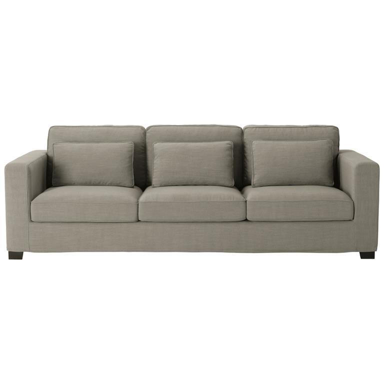 Canapé 4 places en tissu gris Milano