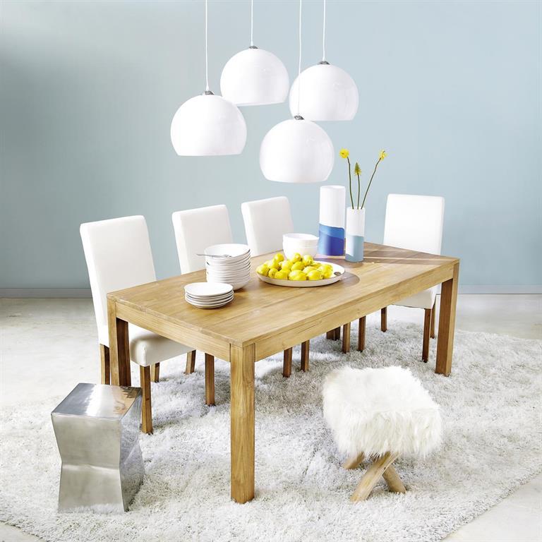 Table de salle à manger en teck massif L 180 cm Amsterdam