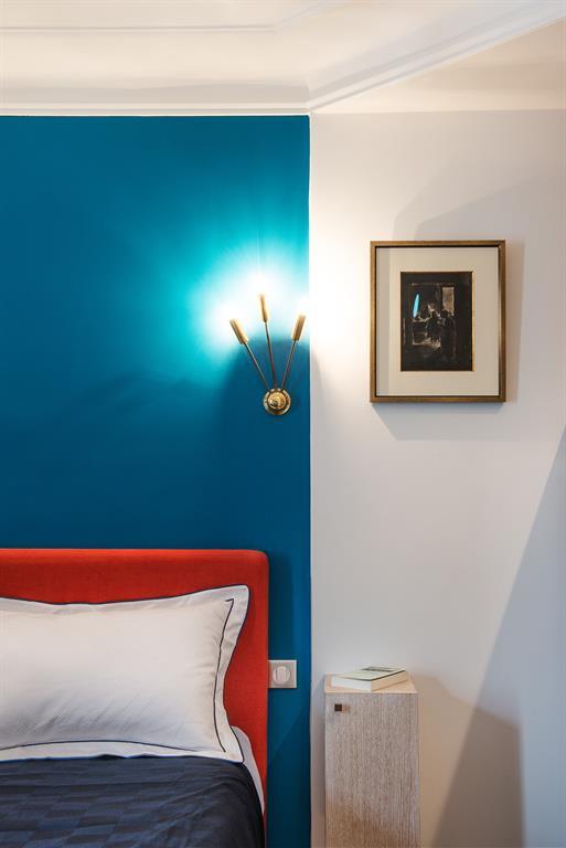 Image Détail chambre bleue Marion Alberge Décoration