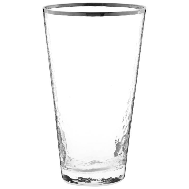 Chope en verre martelé et fil argenté