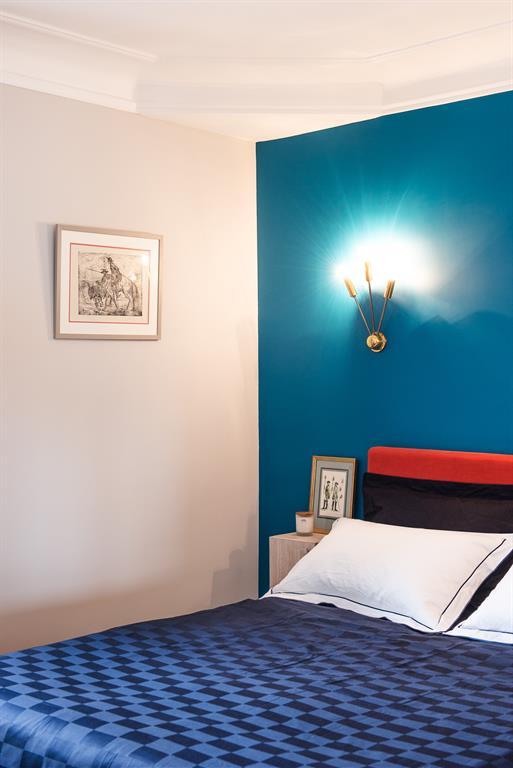 Image Vue chambre bleue Marion Alberge Décoration