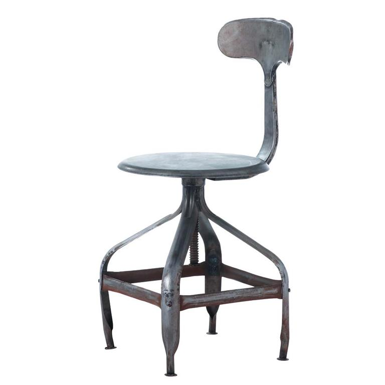 Chaise indus en métal effet vieilli Télégraphe