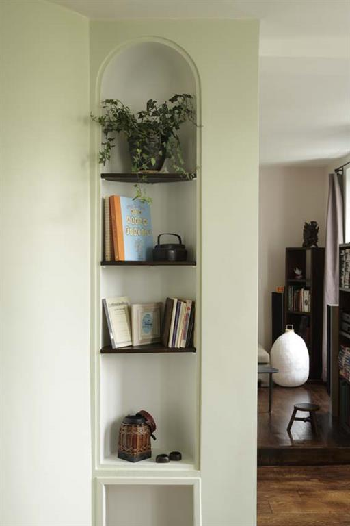 am nagement d 39 une niche murale les murs ont des oreilles. Black Bedroom Furniture Sets. Home Design Ideas