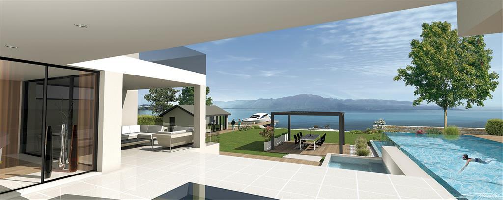 Terrasse panoramique sur le Lac Léman