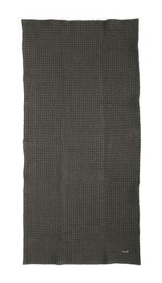 Serviette Organic / 100 x 50 cm - Ferm Living gris foncé