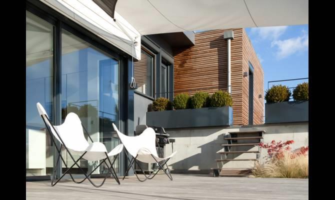 Terrasse Villa Contemporaine : Terrasse d u0026#39;une villa contemporaine u00e0 ossature bois