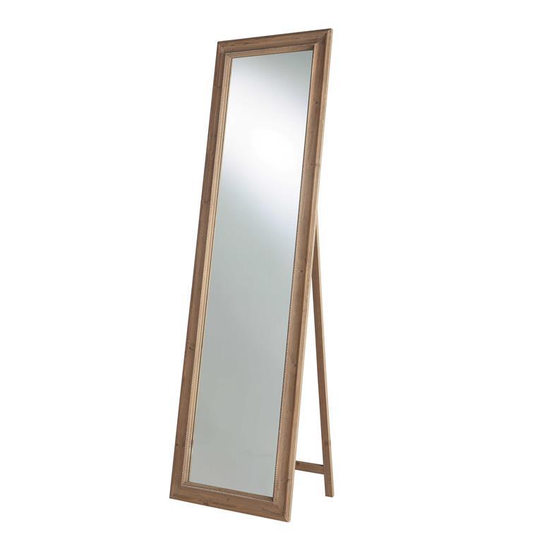 Miroir psyché en bois de paulownia H 167 cm BENEDICTE