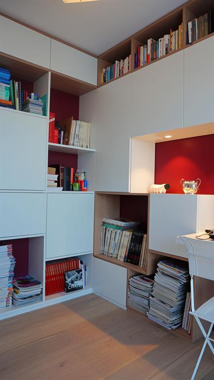 Bureau avec bibliothèque sur-mesure AM esquisse photo n°00