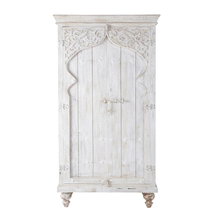 armoire en manguier blanche l 102 cm sinbad