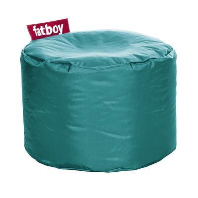 Pouf Point - Fatboy Ø 50 x H 35 cm turquoise en tissu