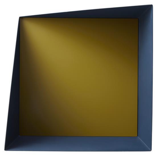 Etagère Wall Box Bleu & Jaune - Please Wait to be Seated