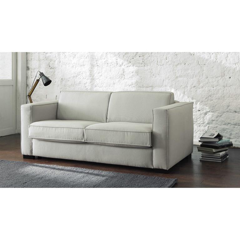 Canapé-lit 3 places en coton gris clair Berlin
