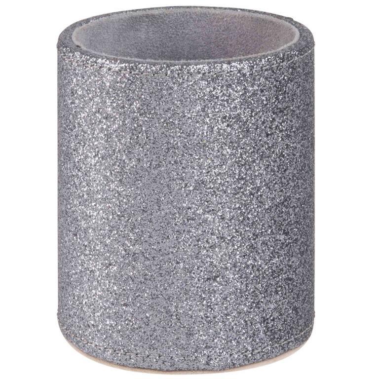 Pot à crayons à paillettes argentées